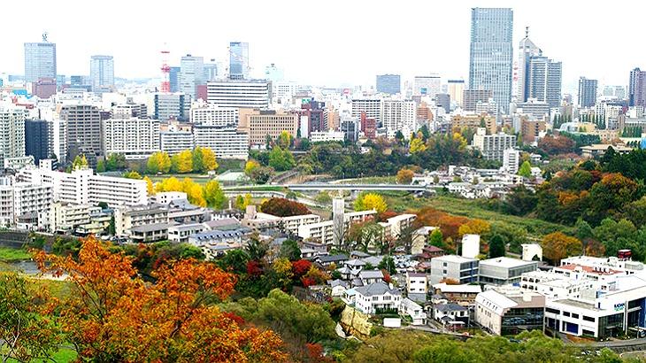 宮城では仙台市を中心としてサービス業、卸売り・小売業が盛ん